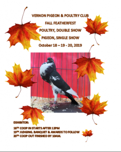 2019 Fall FeatherFest @ Hansen Arena, Armstrong
